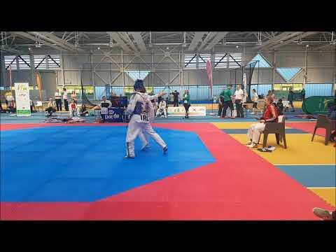 Champion Taekwondo Ireland International Open2018 Conor Grassick (blue)