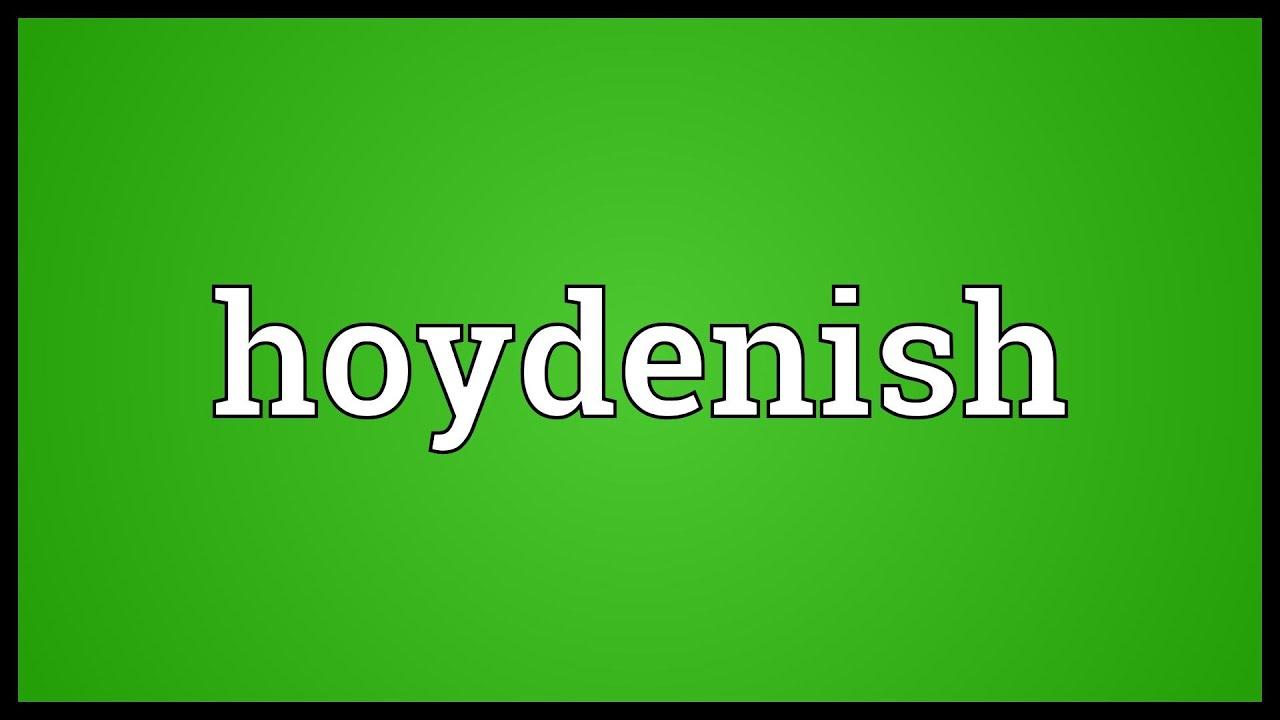 Hoydenish