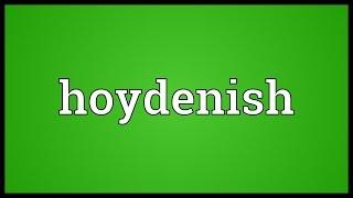 Hoydenish Meaning