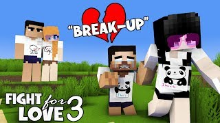 MONSTER SCHOOL : PART 3 FIGHT FOR LOVE ( SAD BREAK UP ) - ALEX , SADAKO AND HEROBRINE LOVE STORY