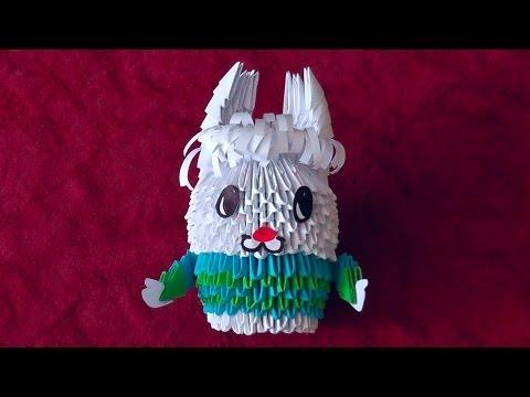 Оригами из модулей заяц (зайка