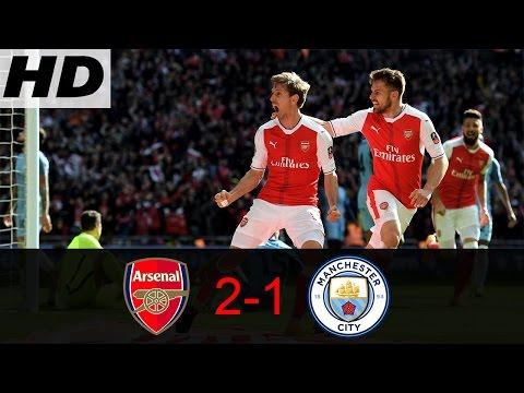 Wow!!! Highlight / Cuplikan Pertandingan Arsenal Vs Manchester City 2-1   All Goals 23/04/2017 HD Mp3