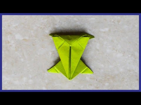 How To Make A Paper Jumping Frog - Origami Jumping Frog - Paper Activity