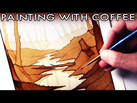 Painting with COFFEE - ART CHALLENGE