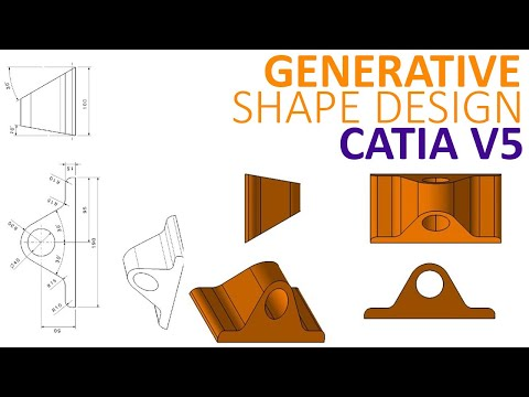 Generative Shape Design #2 - Surface to solid in CATIA V5