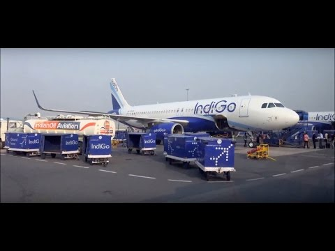A Coverage of Indira Gandhi Airport, Delhi Runway & Numerous Shuttle Buses Towards Various Aircrafts
