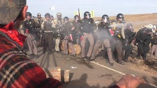 n dakota pipeline squad use rubber bullets against water protectors police state