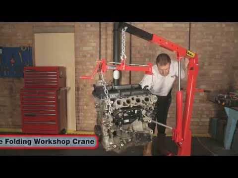Clarke 1 Tonne Folding Workshop Crane - CFC100