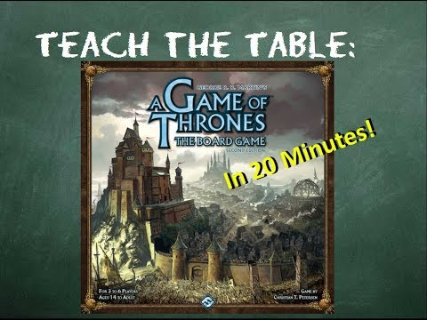 How to play A Game of Thrones: The Board Game Second Edition in 20 minutes