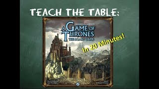 YouTube video How to play A Game of Thrones: The Board Game (Second Edition) in 20 minutes