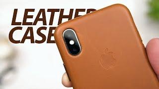 Кожаный чехол Apple Leather Case для iPhone X — Обзор