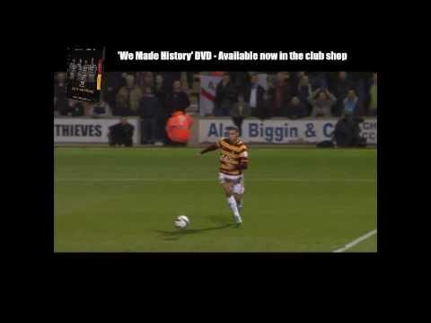 Bradford City vs Aston Villa - Nahki Wells Goal