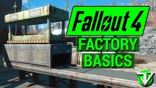 FALLOUT 4 How To Build SIMPLE FACTORY with Contraptions DLC Manufacture Weapons, Armor and More