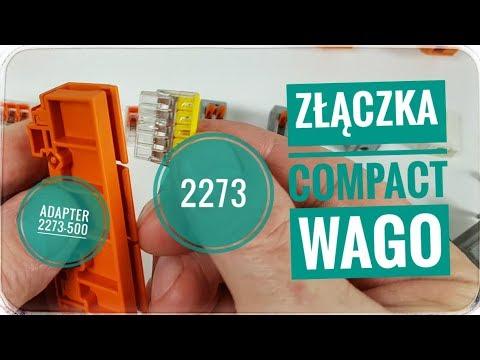 Złączka WAGO COMPACT seria 2273 + adapter montażowy.