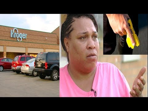 Cincinnati Cop Tase 11-year-old girl Caught Stealing From Kroger Store.