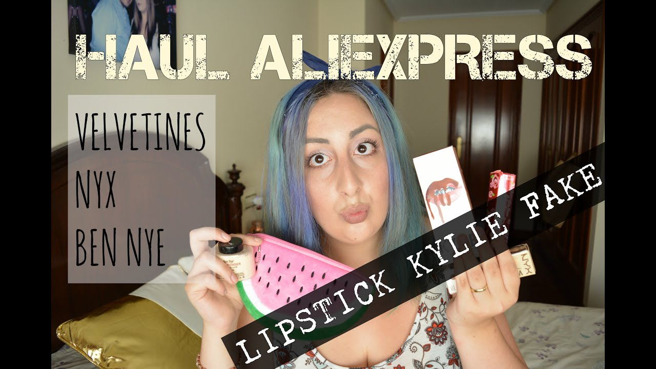 HAUL ALIEXPRESS REPLICAS #5 - KYLIE JENNER LIPSTICK FAKE, VELVETINES, NYX Y MUCHO MAS