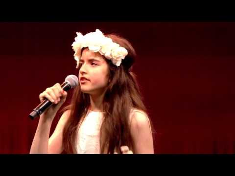 "Angelina Jordan  - ""What a Wonderful World"",  Nor-Shipping Opening Conference, May 30, 2017"