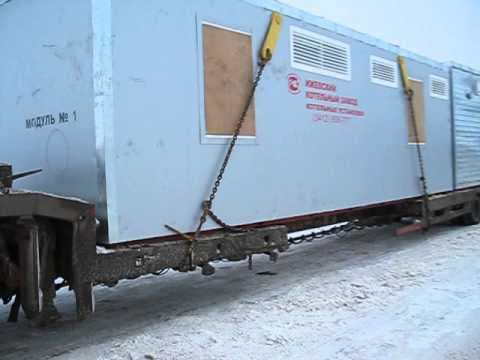 2 вагона оборудования сразу, ХМАО - перевозка длинных грузов в ТК Таттрал