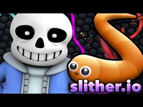 SANS PLAYS SLITHER.IO (Undertale Roleplay)