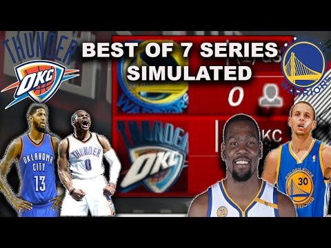 2017 THUNDER TEAM VS 2017 WARRIORS BEST OF 7 SIMULATION in NBA2K17!