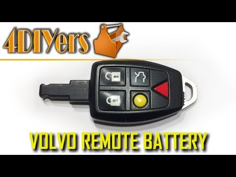 DIY: Volvo Key Fob Battery Replacement and Disassembly