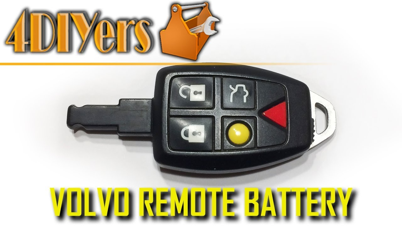 Diy Volvo Key Fob Battery Replacement And Disassembly Youtube