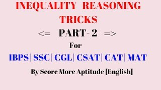 INEQUALITY Tricks For Bank PO Clerk SSC CGL | Part 2