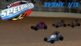 Saturday Night Speedway - Midget - 1/13 | Turn in the Straightaways