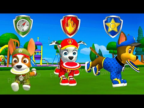 paw-patrol---a-day-in-adventure-bay---tracker-&-marshall-&-chase---ultimate-rescue-adventure