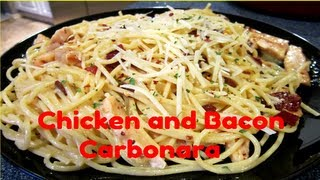 Chicken & Bacon Carbonara ♥