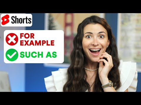 """Stop saying """"FOR EXAMPLE"""" 