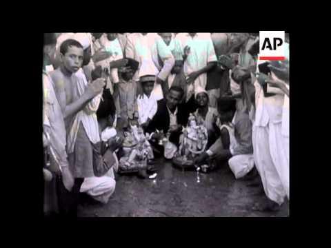 The 'Ganpati' Festival In Bombay.