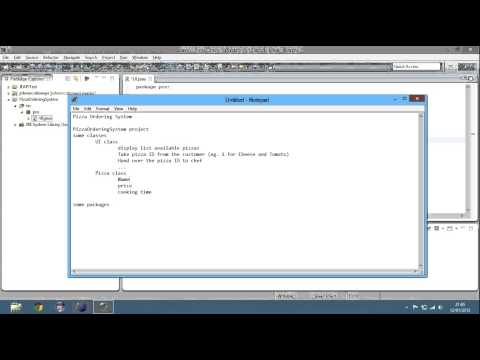 Java Tutorial - Pizza Ordering System Part 1 - Session 33