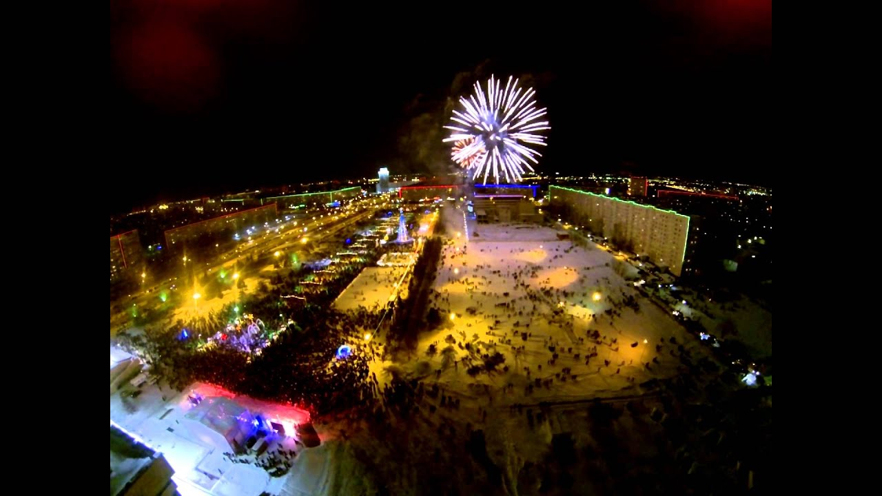 Набережные Челны. Новогодний салют 2015 - YouTube