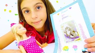 Барби и блокнот своими руками. Видео для девочек