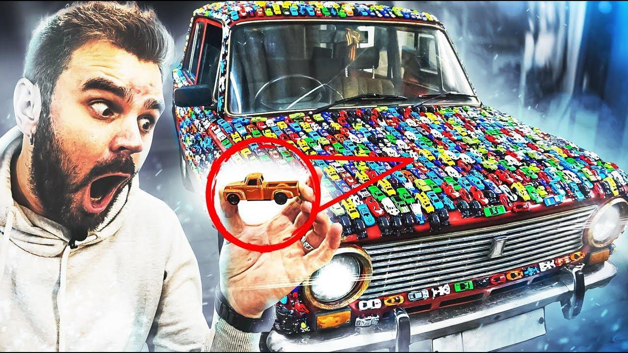 МАШИНА В МАШИНКАХ ПРАНК / Колхозный тюнинг авто своими руками / ПРИКЛЕИЛИ Hot Wheels / Реакция людей