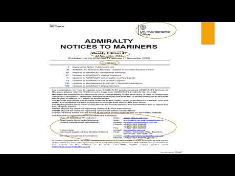 How to use Admiralty Notices to Mariners (Part 1) - Structure