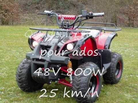 quad lectrique ados retaliator 48v 800w 25 km h youtube