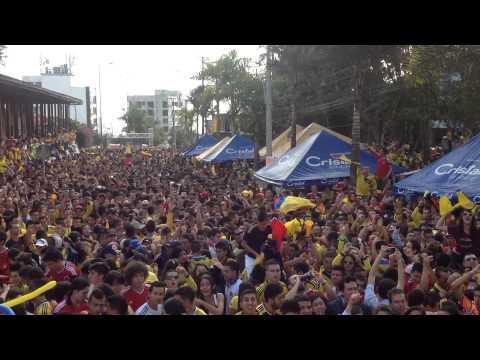 Minutos antes de finalizar el partido colombia-uruguay.....cable manizales 28 de junio/14