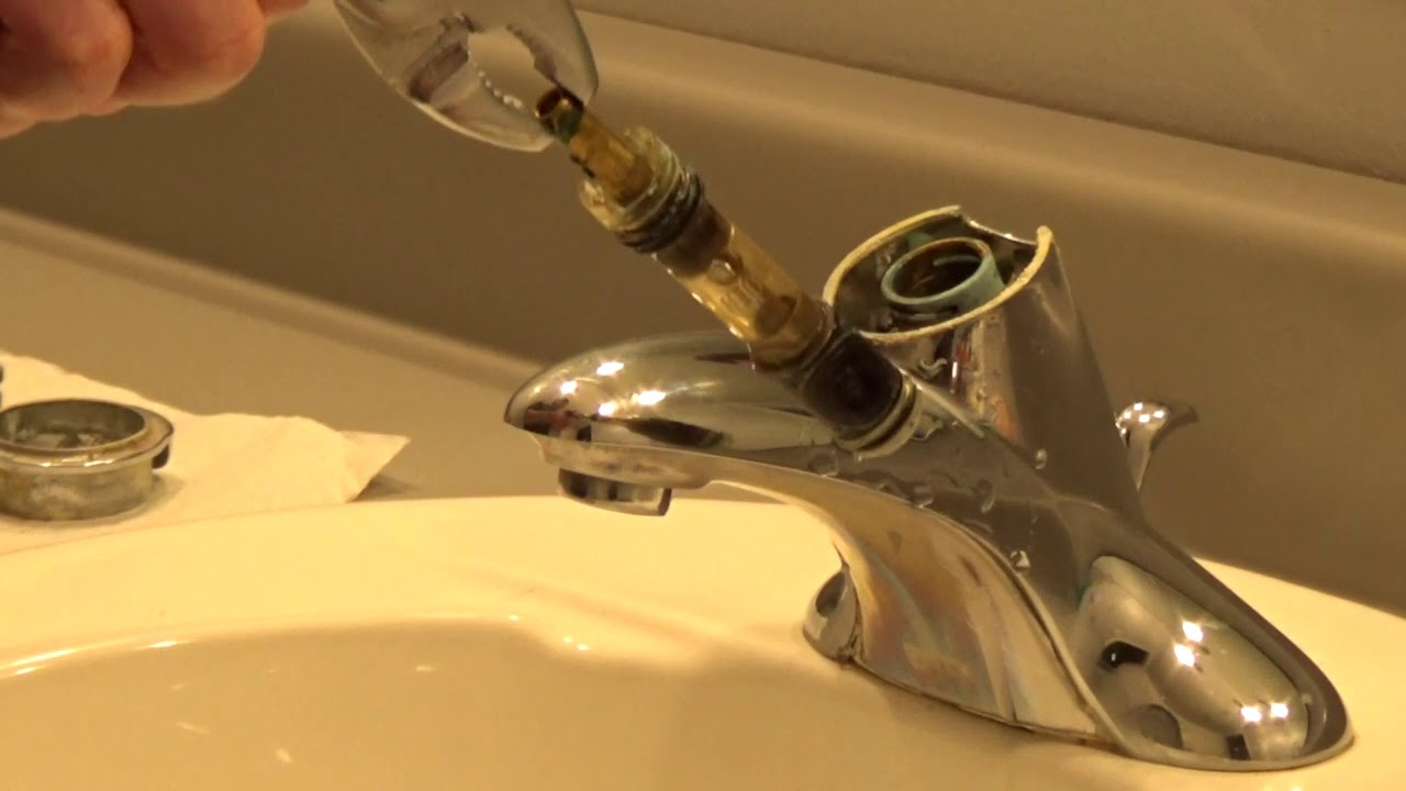 Moen Bathroom Faucet Repair Moen 1225 Youtube