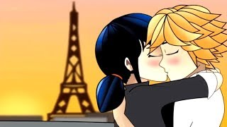 ADRIEN KISSES MARINETTE!?! (Miraculous Ladybug Comic Dub Animations)