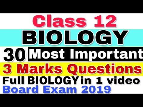 Most Important Questions of Biology for CBSE Board 2019 | Class 12 | Guaranteed Questions