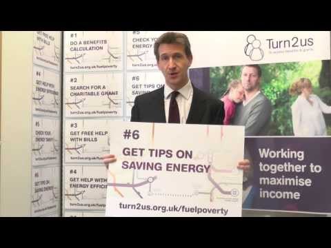Dan Jarvis, MP supports Turn2us Fuel Poverty campaign