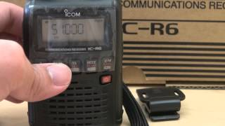 2013 12 08 open box icom ic r6 communications receiver
