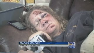 Teacher attacked, purse snatcher sought