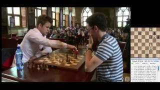 ♚ Fabiano Caruana Checkmates Magnus Carlsen 🔥 Grand Chess Tour Leuven, Chess Blitz, Round 6 ★🔥