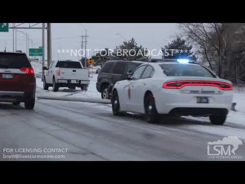 11-12-18 Wichita, KS - Slick Roads Cause Wrecks and Slide Offs.mp4