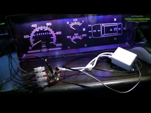 Working LED RGB PWM controlled classic Fiat Panda Dash mod