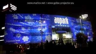 Vianočné osvetlenie AUPARK Bratislava / Vánoční osvětlení AUPARK Bratislava Padajúce snehové vločky