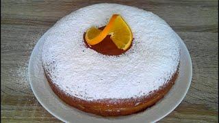 Нежный, ароматный апельсиновый торт! Легкий  и простой рецепт!